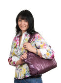 Woman with a bag — Foto de Stock