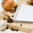 Notebook for culinary recipes - Zdjęcie stockowe