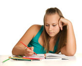 Young girl student — Stock Photo