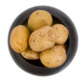 Cast iron pot with a potato — Stock Photo