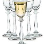 Compositon of wineglasses — Stock Photo
