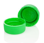 孤立的两个绿色盖子 — 图库照片