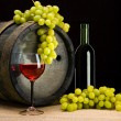 Composition of wine grape — Stock Photo