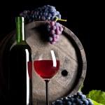 ブルー グレープと赤ワインの組成 — ストック写真