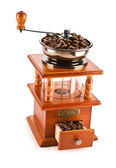 Wooden coffee mill — Stock Photo