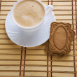 Cappuchino and cookie - Stock Photo