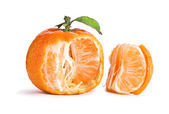 Opened tangerine — Stock Photo