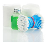 Composition of cleaning accesories — Stock Photo