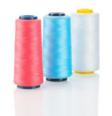 White red and blue thread — Stock Photo