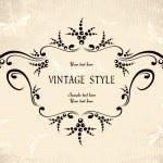 Floral vintage frame — Stock Vector #2758858