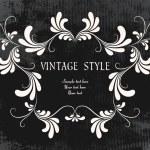 cadre floral Vintage — Vecteur #2758910