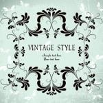 Vintage floral frame — Stockvektor  #2758915