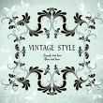 quadro floral vintage — Vetorial Stock  #2758915