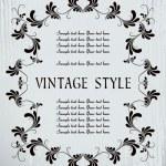 marco floral Vintage — Vector de stock  #2758937