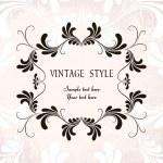 Floral vintage frame — Stock Vector #2880970