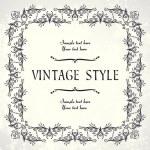 Vintage floral frame — Stockvektor  #3863837