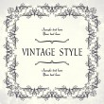 quadro floral vintage — Vetorial Stock  #3863837