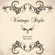 Vintage stylized frame — Stock Vector