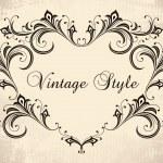 cadre floral Vintage — Vecteur #3875953