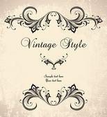 Vintage stiliserade ram — Stockvektor