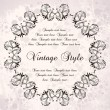 Stock Vector: Vintage wreaths