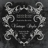 Dark vintage frame — Stock Vector