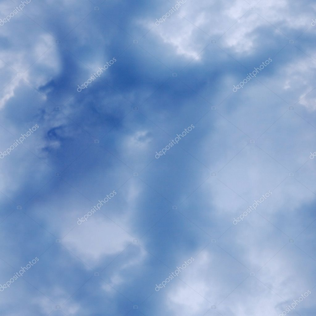 Seamless texture - blue cloudy sky at the zenith  Stock Photo #2826898
