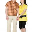 Guy and the girl on a white background — Stock Photo #2888572