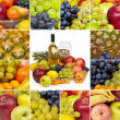Wine, tropical fruits - square collage — Stock Photo #2930499