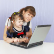 Mother and daughter playing — Stock Photo #2930531