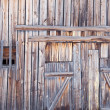 Wooden wall old country barn — Stock Photo