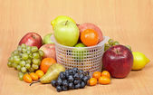 Arrangement -variety of different fruits — Stock Photo