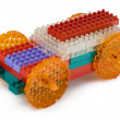 Toy car made from meccano — Stock Photo