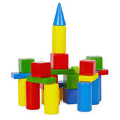 Tower of toy bricks — Stock Photo