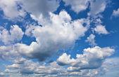 Céu azul nublado perto horizonte — Foto Stock