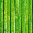 Stock Photo: Green wooden old decayed wall