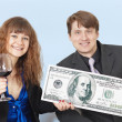 Entrepreneurs are celebrating receiving large pr — Stock Photo