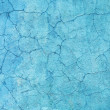 Concrete walls are covered with blue paint - Stock Photo