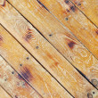 Diagonal square texture of wooden planks - Stock Photo