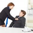 Quarrel of men at office — Stock Photo