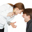 Shouting at each other man and woman — Stock Photo #3438683