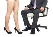 Male and female legs — Stock Photo