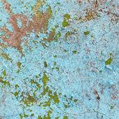 墙上的石头与建筑损坏油漆 — 图库照片