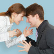 Man and woman arguing again — Stock Photo