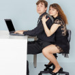 Husband and wife go to surf the Internet — Foto de Stock