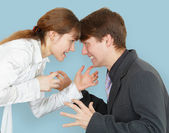 Man and woman arguing again — Stockfoto