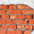 Damage of brick wall - industrial urbanistic background — 图库照片 #3515384