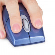 Hand holds computer mouse close up — Stock Photo #3515522