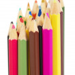 Royalty-Free Stock Photo: Set of colored wooden pencils