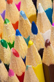 Tips of color pencils close up — Stock Photo